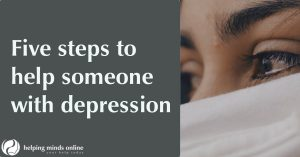 five steps on how to help someone with depression