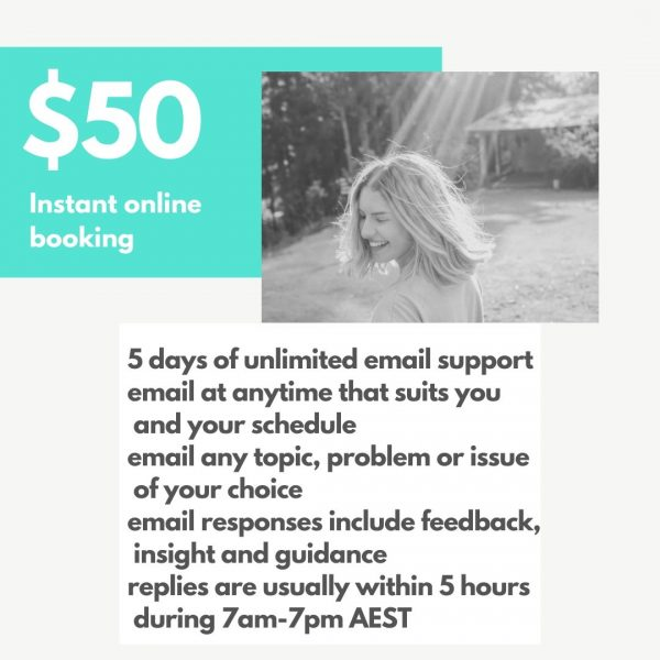 What is online therapy email support